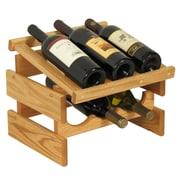 Wooden Mallet Dakota 6 Bottle Tabletop Wine Rack; Light Oak