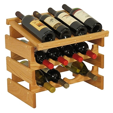 Wooden Mallet Dakota 12 Bottle Tabletop Wine Rack; Light Oak