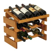 Wooden Mallet Dakota 12 Bottle Wine Rack; Medium Oak