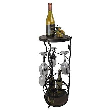 Metrotex Designs French Vineyard 7 Bottle Floor Wine Rack; Black Meteor