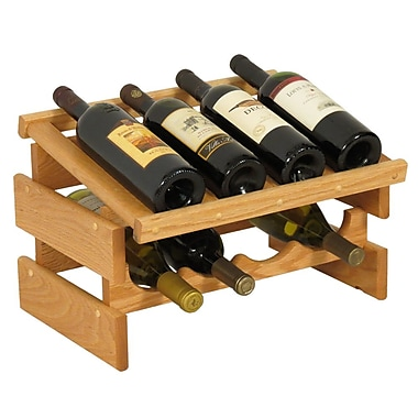 Wooden Mallet Dakota 8 Bottle Tabletop Wine Rack; Light Oak