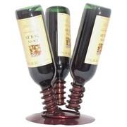 Metrotex Designs 3 Bottle Tabletop Wine Rack; Merlot