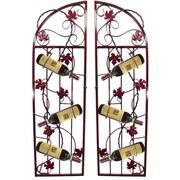 Metrotex Designs French Vineyard 6 Bottle Wine Rack (Set of 2); Rich Merlot