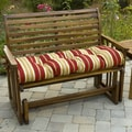 Greendale Home Fashions Bench Cushion for Outdoor Swing; Roma Stripe