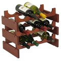 Wooden Mallet Dakota 12 Bottle Wine Rack; Light Oak