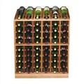 Wine Cellar Designer Series 60 Bottle Wine Rack; Classic Stained Premium Redwood