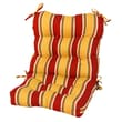 Greendale Home Fashions Outdoor Seat / Back Chair Cushion; Carnival Stripe