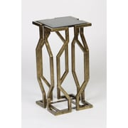 Prima Value Geometric End Table; Brass