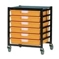 Storsystem 6 Tray Extra Wide Mobile Metal Rack; Primary Blue