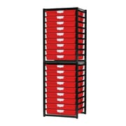 Storsystem 18 Tray Stationary Metal Rack; Primary Red