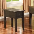 Steve Silver Furniture Liberty End Table; Multi-Step Antique Black