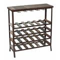 Privilege 24 Bottle Iron and Wood Wine Rack