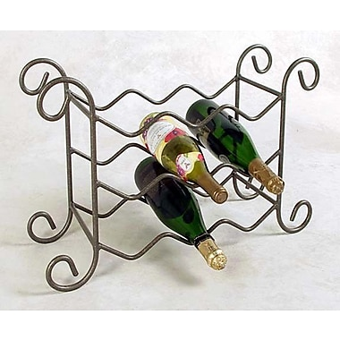 Grace 9 Bottle Tabletop Wine Rack; Antique Bronze