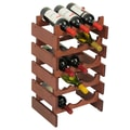 Wooden Mallet Dakota 15 Bottle Wine Rack; Mahogany