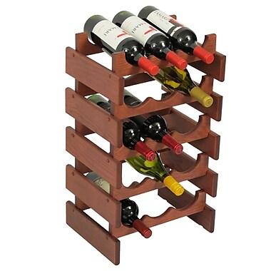 Wooden Mallet Dakota 15 Bottle Floor Wine Rack; Mahogany