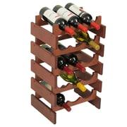 Wooden Mallet Dakota 15 Bottle Wine Rack; Mahogany