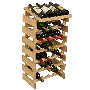 Wooden Mallet Dakota 28 Bottle Floor Wine Rack; Unfinished