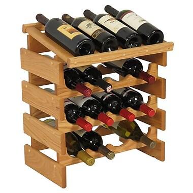 Wooden Mallet Dakota 16 Bottle Tabletop Wine Rack; Light Oak
