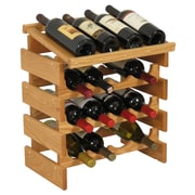 Wooden Mallet Dakota 16 Bottle Wine Rack; Light Oak