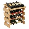 Wooden Mallet Dakota 16 Bottle Wine Rack; Unfinished