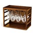 Wine Enthusiast Companies Tabletop Wine Glass Rack; Walnut Stain