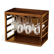 Wine Enthusiast Companies Tabletop Wine Glass Rack; Walnut Stain