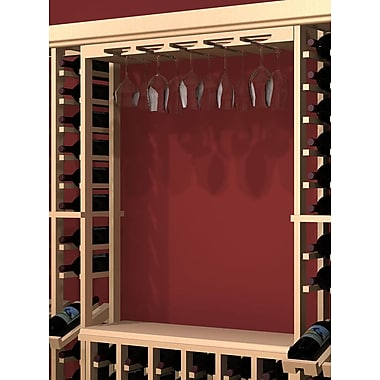 Wine Cellar Rustic Pine Hanging Wine Glass Rack