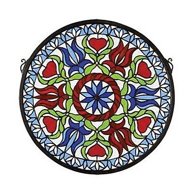 Meyda Tiffany Tiffany Hex Medallion Stained Glass Window