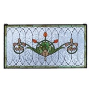 Meyda Tiffany Floral Tulip and Fleurs Stained Glass Window