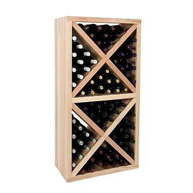 Wine Cellar Vintner Series 78 Bottle Floor Wine Rack; Dark Walnut