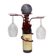 Metrotex Designs Grapevine 1 Bottle Tabletop Wine Rack; Merlot