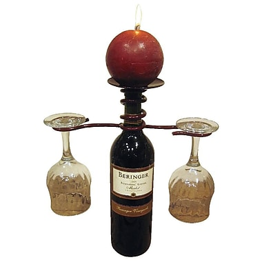 Metrotex Designs 1 Bottle Tabletop Wine Rack; Merlot