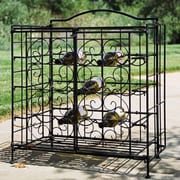 Pangaea Folding 15 Bottle Wine Rack; Black