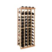 Wine Cellar Vintner Series 48 Bottle Floor Wine Rack; Dark Walnut