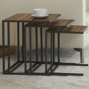 Jesper Office Parson Set of Three Nesting Tables; Walnut