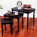 Mega Home 3 Piece Nesting Tables; Cherry