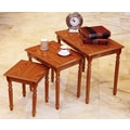 Mega Home 3 Piece Nesting Tables; Oak