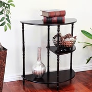 Mega Home Multi Tiered End Table; Cherry