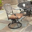 Home Styles Floral Blossom Swivel Dining Arm Chair with Cushion; Charcoal