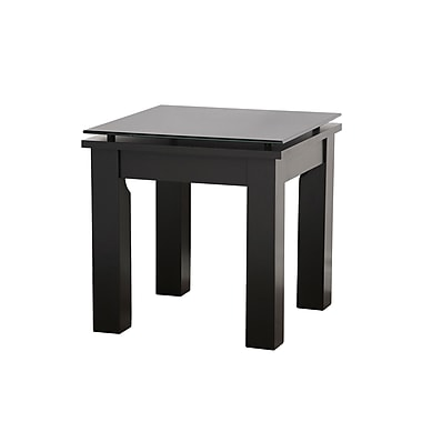 Plateau SL Series End Table; Black