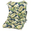 Greendale Home Fashions Outdoor Seat / Back Chair Cushion; Blue Floral