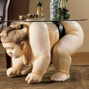 Design Toscano Basho the Sumo Wrestler Sculpture End Table