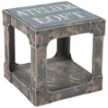 Moe's Home Collection Loft End Table; Blue