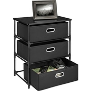 Altra 3 Drawer Storage End Table; Black