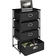 Altra 4 Drawer Storage Unit End Table; Black