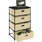 Altra 4 Drawer Storage Unit End Table; Natural