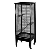 A&E Cage Co. Medium 4-Level Small Animal Cage; Platinum with Black