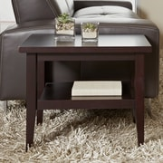 Jesper Office Wood End Table; Espresso