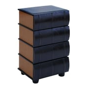 Woodland Imports Leather Books End Table