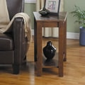 Woodbridge Home Designs Elwell Wedge Chairside Table; Espresso